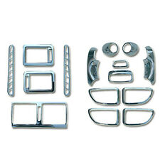 Chrome Interior Molding Garnish Kit Trim 15p For 2005-2009 Hyundai Tucson