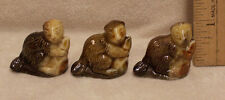 Set 3 Wade England Red Rose Tea Brown Beaver Figurines