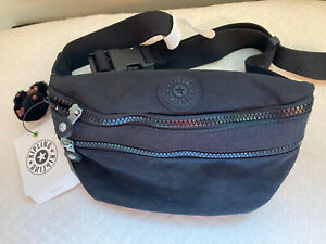NWT kipling fanny pack black Double Zipper