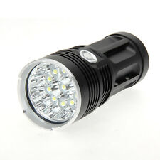 30000LM 12x CREE XM-L T6 LED Flashlight Torch 4x 18650 Hunting Light Lamp