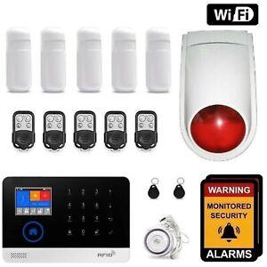 Wireless Home security WiFi app Control DIY Burglar House Office Alarm System