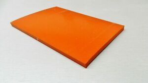 """Silicone Rubber Pad 4 x 8 x 1/4 Thick Sheet High Temp Solid Red/Orange 4"""" x 8"""""""