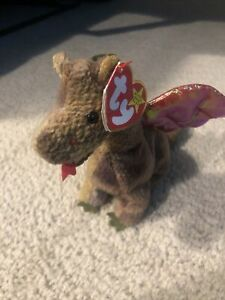 "Ty Beanie Babies Retired  ""Scorch the Dragon"" Beanie Baby 1998 Rare Vintage"