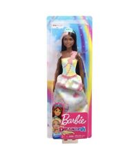 Barbie DREAMTOPIA Princess Sweetville Brunette Doll BRAND NEW! African American