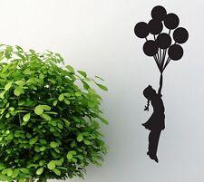 Mädchen mit Luftballons Wandtattoo Wallpaper Wand Schmuck 58 x 68 cm