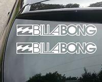 2x BILLABONG SURF Funny Car/Window JDM VW EURO Vinyl Decal Sticker