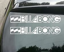 2x BILLABONG SURF Funny Car/Window JDM VW EURO Vinyl Decal Sticker