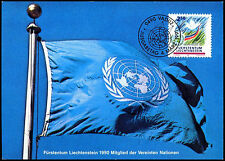 Liechtenstein 1991 United Nations Membership Maximum Card #C38811