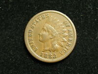 BLOW OUT SALE  AU 1883 INDIAN HEAD CENT PENNY w/ FULL LIBERTY & DIAMONDS #117i