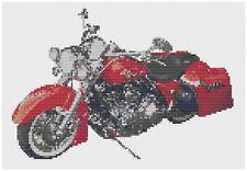 Harley Road King Bike Cross Stitch Kit by Florashell