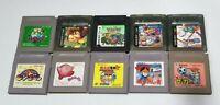 10 LOT Nintendo Gameboy Games Pokemon Green Donkey Kong Star Kirby Sakura Wars