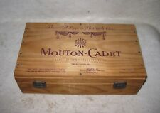 "Baron Philippe de Rothschild Mouton-Cadet 2 Wine Bottle Gift Box 13 x 7.5 x 4"""