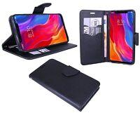Book-Style Handyhülle Buch Form Tasche Case Cover für XIAOMI MI 8 in Schwarz