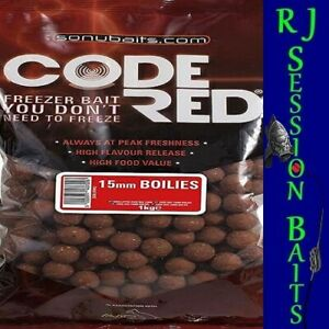 Sonubaits Code Red 15mm Session Pack of 25 Boilies