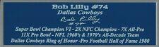 Bob Lilly Autograph Nameplate Dallas Cowboys Helmet Photo Football Jersey