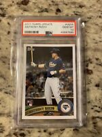 2011 Topps Update Anthony Rizzo Rookie Card RC #US55 PSA 10 GEM MINT J26