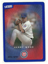 2003 Upper Deck Victory TIER 3 BLUE Kerry Wood Chicago Cubs 23 401/650 parallel