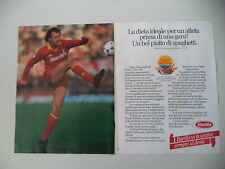 advertising Pubblicità 1984 PASTA BARILLA e PAULO ROBERTO FALCAO ROMA CALCIO