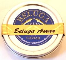 125g Amur Beluga Kaviar vom pur Huso Dauricus Aquakultur +2 Perlmuttlöffel