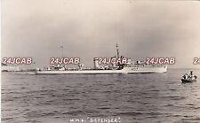 "Royal Navy Real Photo. HMS ""Defender"" D-class destroyer. Scuttled. Malta c 1940"
