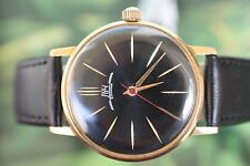 VINTAGE MEN'S BIG GOLD-PLATED RUSSIAN MECHANICAL LUCH (LUCZ) WATCH 23 JEWELS!