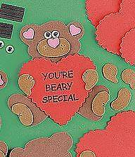 1 Your Beary Special Foam Magnet Craft Kit Kids Fun Valentine Craft Heart