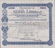 David Kerman. 11 Princess Street, Hanover Square. 1931. Nonn Ltd Shares (ZE.82)