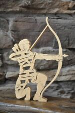 Archer w/ Bow and Arrow Archery Figurine Wooden Amish made Toy Puzzle New