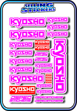KYOSHO MODEL RC CAR DRONE BOAT BUGGY MINI Z STICKERS DECALS ROBOT R/C PINK W