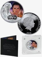 2016 Niue $2 1 Oz Proof Silver Star Wars: Force Awakens - Rey In OGP SKU38607