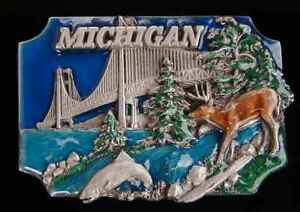 MICHIGAN STATE BELT BUCKLE DETAILED NEW! BUCKLES