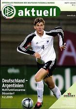 09.02.2005 DFB-actualmente 1/2005 alemania-argentina en Düsseldorf