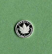 Silver Cannabis Legalizer One Gram Round .999 Fine