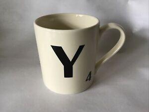 Letter Y Ceramic Mug Scrabble Design New Wild & Wolf Christmas Present