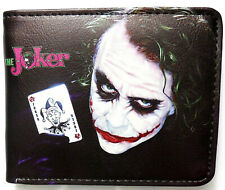 The Joker Wallet purse Bifold Credit card id window BatMan Arkham Knight Cartoon