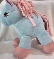 "HUGFUN 10"" Pink Blue HORSE Little PONY Plush Stuffed Animal Toy B25"