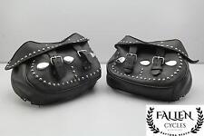 97 Harley Softail Classic FLSTC  Left Right Saddlebag Luggage Case Set *DMGD
