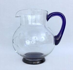 PRINCESS HOUSE Heritage Cobalt Blue Accent Large Pitcher #641 ~ Mint Condition!!