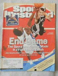 2005 Sports Illustrated Tim Duncan San Antonio Spurs Vs Ben Wallace Pistons Vg