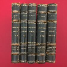 TESTUT - ANATOMIA UMANA Ed UTET  (1923) 5 VOLUMI (IX TOMI) manca volume IV