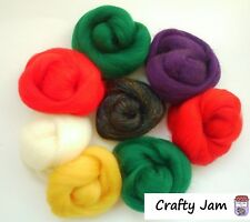 Needle Felting Christmas Xmas Sparkle Shades Felting Wool Rovings 53g