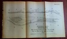 1881 Sketch Map Mississippi River Works at Horsetail Bar Jefferson Barracks