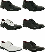MENS LACEUP SHOES SMART WEDDING ITALIAN STYLE FORMAL OFFICE DRESS WORK SHOE SIZE
