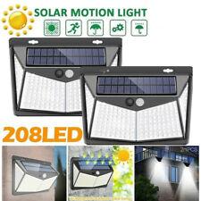 4x 208LED Lampe Solaire avec Détecteur de Mouvement Extérieur Projecteur Jardin