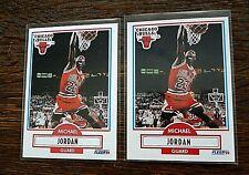 1990-91 Fleer Basketball Michael Jordan # 26 NO Black LINE Error & Base Card #26