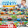 Kids Play Mat City Road Buildings Parking Map Game Scene Map Educational Toys