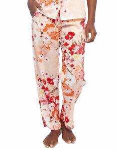 Cyberjammies 4425 Darcie Coral Orange Floral Print Cotton Pyjama Pant 8