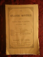 ATLANTIC October 1866 HENRY JAMES W. J. STILLMAN NATHANIEL HAWTHORNE