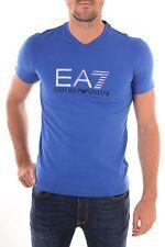 EMPORIO ARMANI EA7 Large Metallic Logo Royal Blue Tee Sizes S M XL XXL BNWT