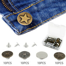 Sets Of 12 Evolution Tack Buttons Metal Replacement Kit For Jeans 24 /& 48 pcs
